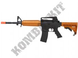 ProjectZ CH-4 M4 Combat Rifle Airsoft BB Gun Black and Bronze